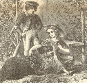 Boy & Girl with dog and bat