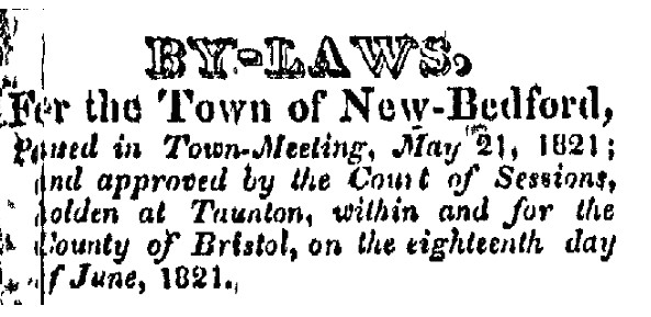 New Bedford Mecury, July 13, 1821
