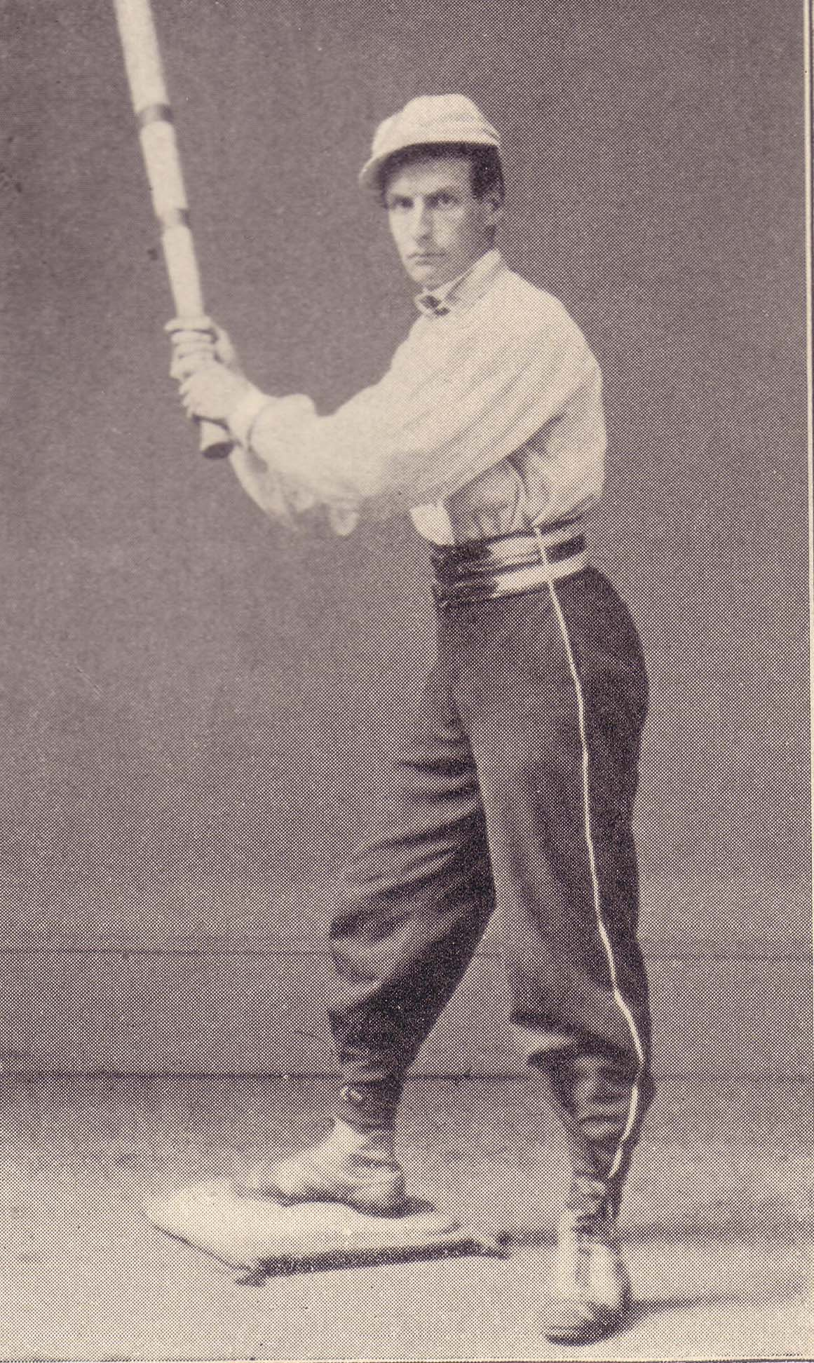 John Lowell, an 1860s-era baseball player.  A vintage baseball game is just one event to enjoy on Greater Danbury Open House Day.