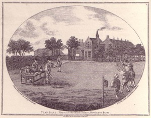 Trap Ball Played at the Black Prince, Newington Butts, 1788